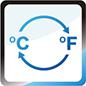 Affichage en degrés Celcius ou Fahrenheit